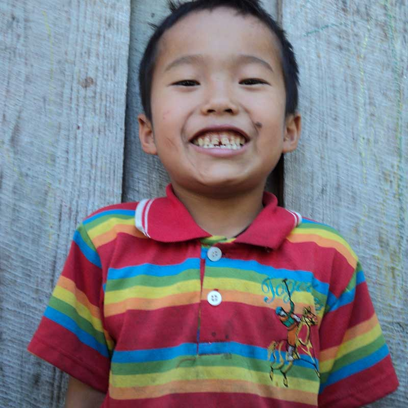 Enfant de la Thaïlande du Nord